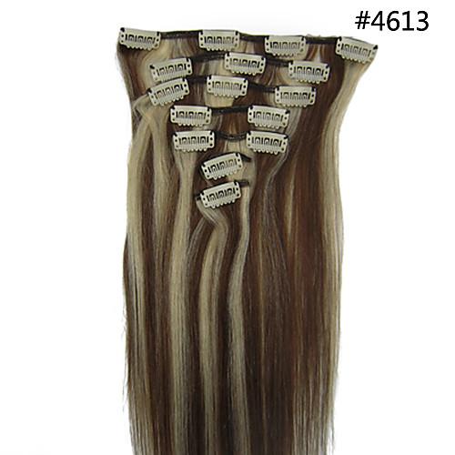 20inch 8pcs/set индийский Реми Clip-в 105 г волос для полной головки (другие цвета) Lightinthebox 2148.000