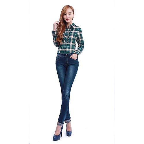 Женские Хороший Талия Джинсовая Тонкий брюки карандаш Lightinthebox 1284.000