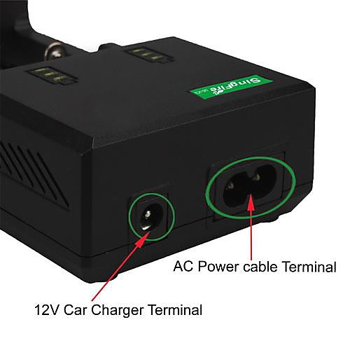 SingFire американо-UC2 Dual-Slot Интеллектуальный Универсальное зарядное устройство ж / USB, автомобильное зарядное устройство-черный (ЕС Plug) Lightinthebox 1073.000