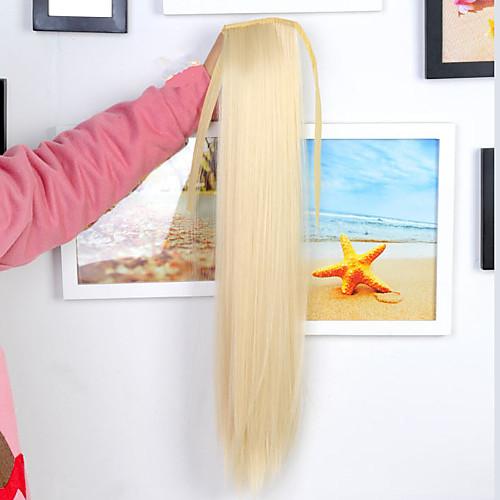 Высококачественных синтетических 25-дюймовый сторона ленты Удары связанный прямо длинные Расширения Ponytail волос (белый) Lightinthebox 1030.000