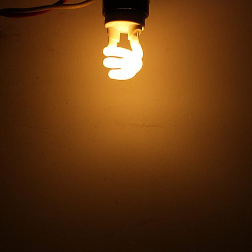 E27 5W 280LM CRI> 80 2700K теплый белый свет младенца Спиральные лампы (220-240V) Lightinthebox 257.000
