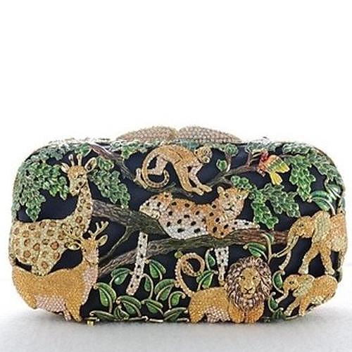 Гарантировано 100% Handmade животных Дизайн Rhinstone Муфты