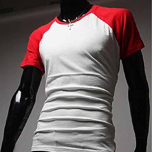 Мужская мода хлопок Досуг Спорт Футболка (ассорти Размер, разных цветов) Lightinthebox 644.000