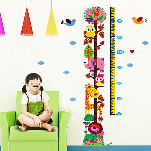 Зоопарк Дети Рост Диаграмма Высота Мера Дети номера украшения DIY стены стикеры Lightinthebox 644.000