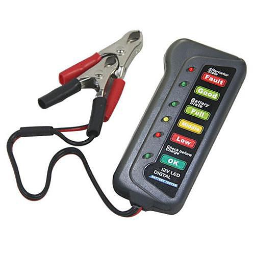 Тироль 12V светодиодный цифровой Аккумулятор Генератор тестер с 6 светодиодных огней дисплей показывает состояние Lightinthebox 214.000