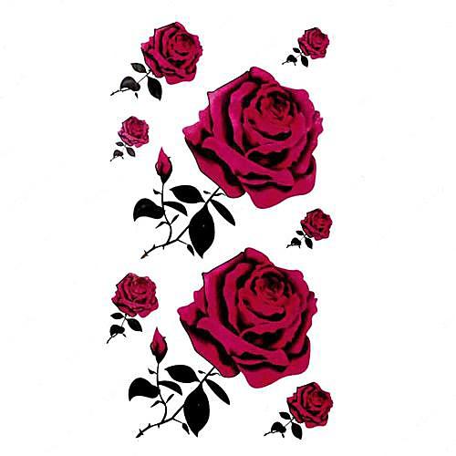 5 шт Rose Водонепроницаемый Временные татуировки (10.5cm  20.5cm) HM159 Lightinthebox 429.000