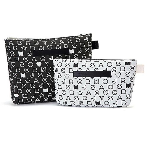 2шт черный и белый Letter Pattern Портфель Shaped Сгущает Макияж / Косметика сумка Набор косметики хранения Lightinthebox 231.000
