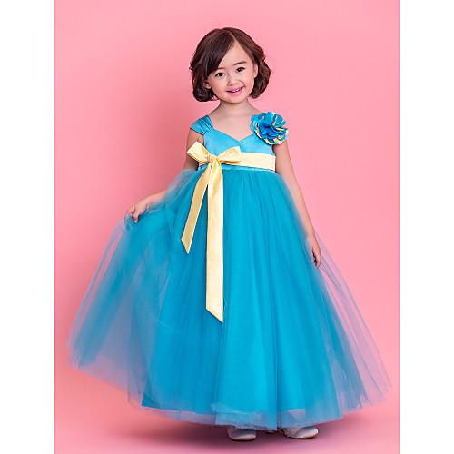 Ремни линии длиной до пола тюль платье девушки цветка (733972) Lightinthebox 4296.000