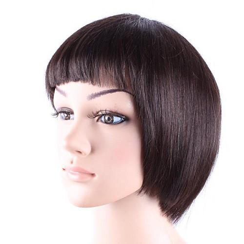 Прямые волосы парика монолитным коротких Боб Высокое качество человеческих волос Шатен Lightinthebox 2792.000