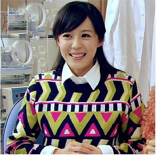 Ретро Поп Стиль Разноцветные Женщины Волнистые геометрический узор пуловер свитер
