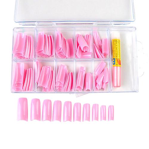 100PCS Смешанная Размер Розовые французские Типсы с клеем Lightinthebox 214.000
