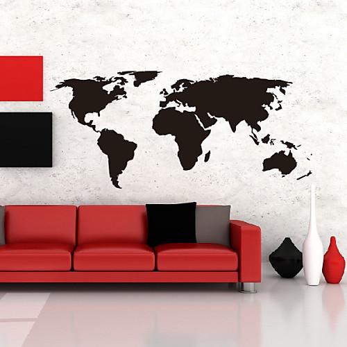 Декоративная наклейка на стену в виде карты мира (виниловая, моющаяся) Lightinthebox 1288.000