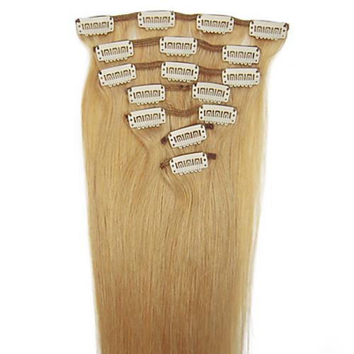 20inch 8pcs/set индийский Реми Clip-в 105 г волос для полной головки (другие цвета) Lightinthebox 2019.000