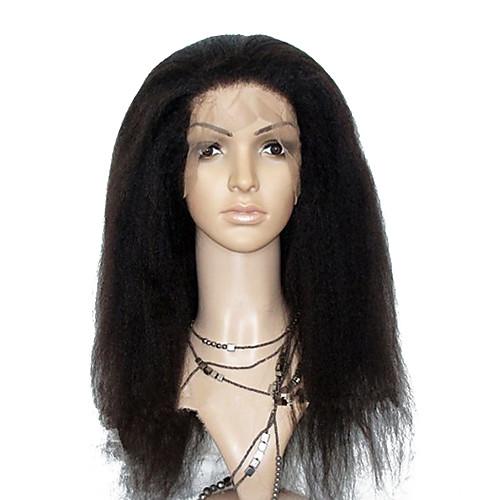 20inch Kinky прямая парик фронта шнурка Оптовая моды бразильский Remy девственницы человеческих волос (# 1, # 1B, # 2, # 4) Lightinthebox 8121.000