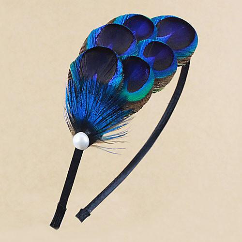 Урожай Синий перо повязка для женщин 1 шт Lightinthebox 560.000
