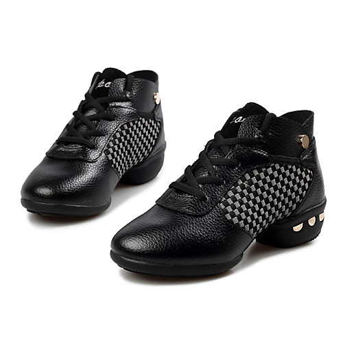 Женская кожа клетку Заклепки босоножки Обувь для танцев Кроссовки (больше цветов) Lightinthebox 1718.000