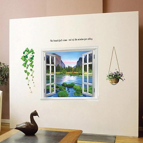Поддельные Окно плакат, Декоративные Плакат стены стикеры Lightinthebox 773.000