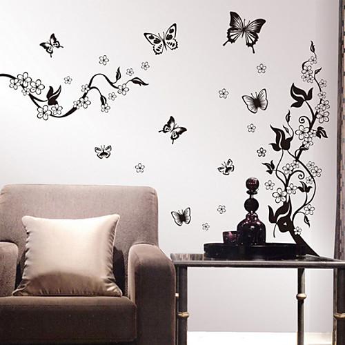 Цветы и бабочки Съемные Стены Декор стены стикеры Lightinthebox 858.000