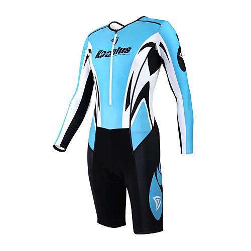 KOOPLUS - Триатлон Ocean Blue  черный с длинным рукавом носить и шорты сиамских задействуя одежда Lightinthebox 3437.000