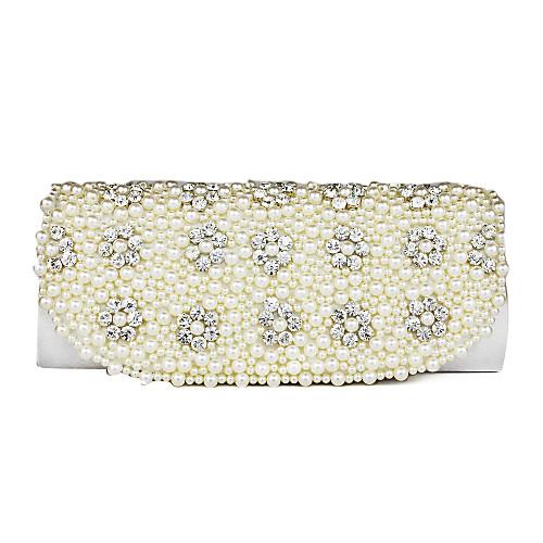 Великолепные шелковые с Rhinestone Перл Муфты / Вечерние сумки (другие цвета)