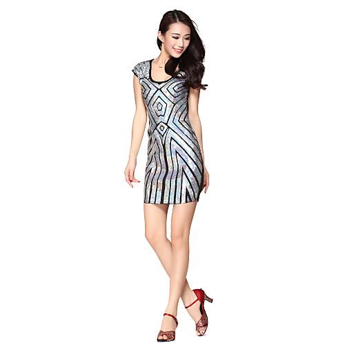 Танцевальная одежда Женская Зрелые Геометрическая блестками Полиамид Танцы платье (больше цветов)