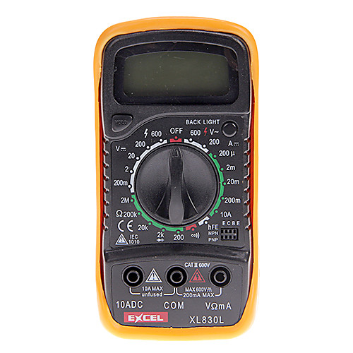 A830L Полная защита Диапазон Цифровой мультиметр с ЖК-дисплеем Lightinthebox 386.000