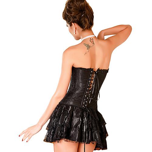 Женская сексуальная без бретелек корсет с мини-платье и G-Strings Lightinthebox 1116.000