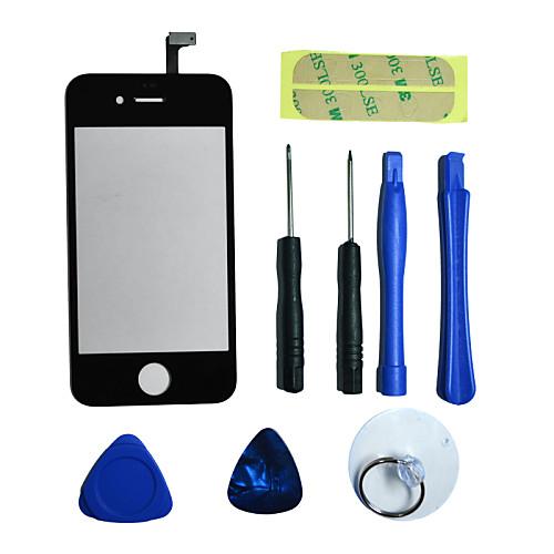Ремонт ЖК Передняя Стекло экрана Часть объектива с 3M стикер и инструментов для IPhone 4 (разных цветов) Lightinthebox 214.000