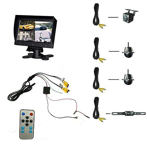 9'' монитора автомобиля с четыре встроенных Splitter Функции дисплея и четыре камеры Lightinthebox 8078.000