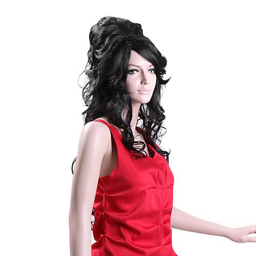 Эми Уайнхаус Стиль Длинные Bouffant кудрявый парик волос (черный) Lightinthebox 1718.000