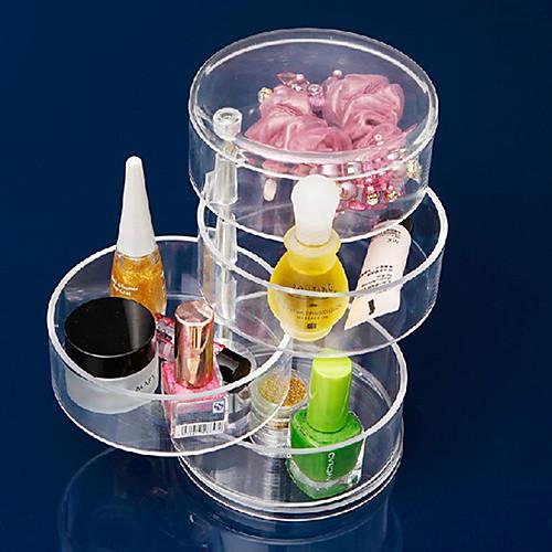акриловая прозрачная 4 слой вращающийся цилиндр коробка в форме косметика хранения косметических организатор Lightinthebox 558.000