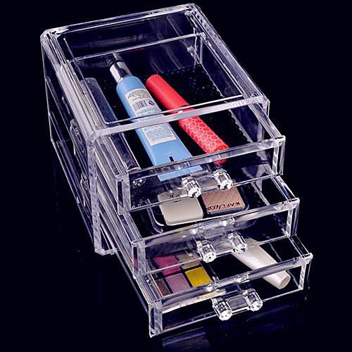 Акриловая Прозрачная трехслойной Косметика хранения ящика Квадрат Косметическая Организатор Lightinthebox 858.000