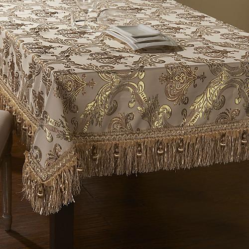 кратким золотое шитье кружева бежевый таблица полиэстер ткань Lightinthebox 2320.000
