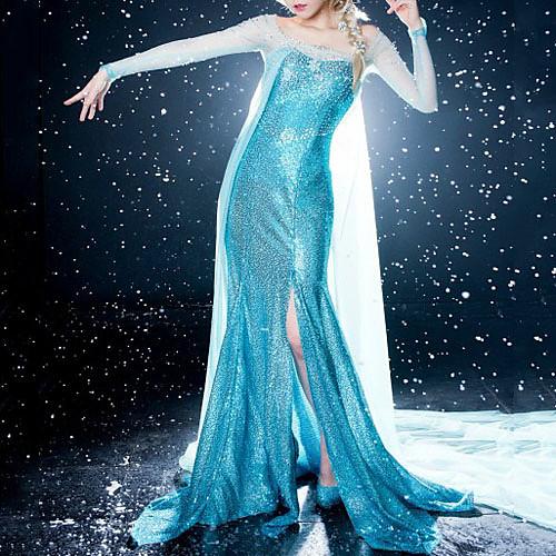 Замороженные Искра Принцесса Эльза голубом платье Косплей Костюм Lightinthebox 6015.000