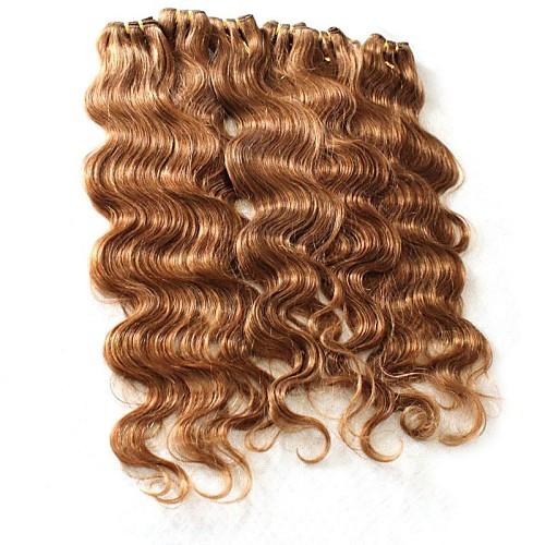 Бразильский Волосы 100% человеческих волос объемной волны коричневый цвет 18 дюймов Lightinthebox 2105.000