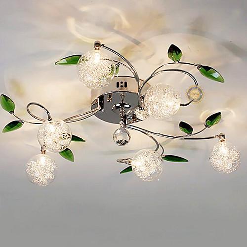 Хромированная люстра с 6 стеклянными шарообразными плафонами Lightinthebox 6015.000