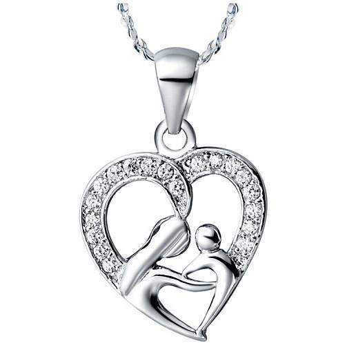 Элегантный форме сердца Серебристый сплав Женская ожерелье (1 шт) Lightinthebox 225.000