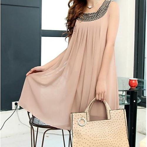 2014 Летняя мода Свободная шифон Юбка для беременных Одежда Базовая Цельный платье Lightinthebox 809.000