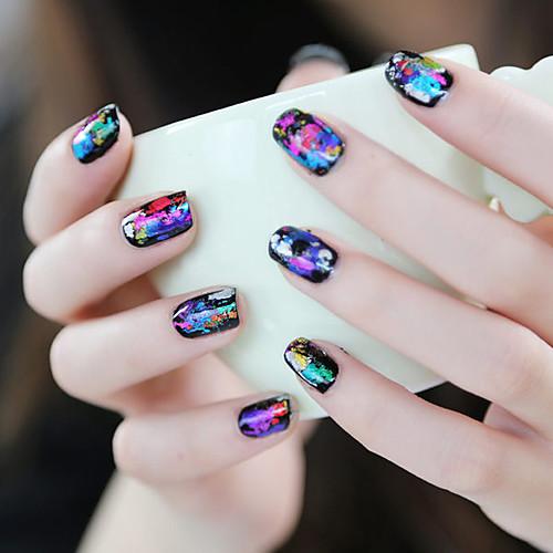 1PCS Лазерная Фольга для ногтей украшения Звездное ногтей наклейки No.19-26 (разных цветов) Lightinthebox 85.000