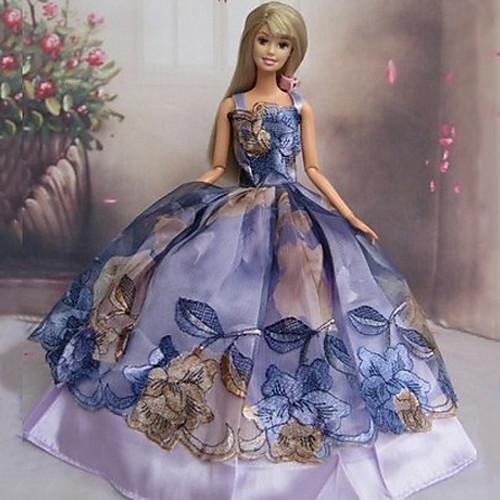 Кукла Барби Мечта Фиолетовый китайский стиль свадебное платье Lightinthebox 300.000