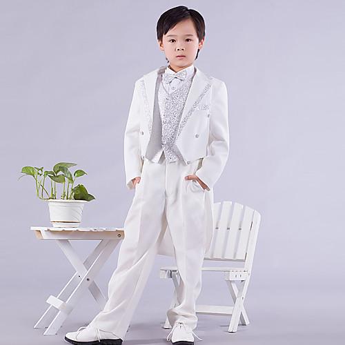 страница мальчик наряды шесть штук белый и серебристый ласточкин хвост кольцом на предъявителя костюм (1145551) Lightinthebox 1718.000