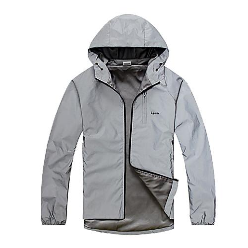 ЛУНА Светоотражающие Водонепроницаемый Серебряная хлопок Велоспорт куртка Lightinthebox 2577.000