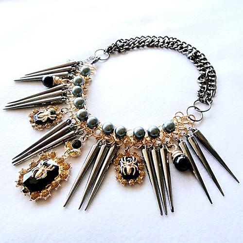 Женская мода Панк Паук Подвеска Сплав нагрудник ожерелье Lightinthebox 558.000