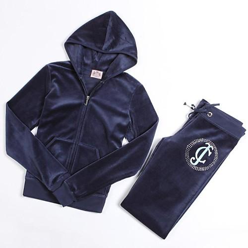 Женская утолщение Бархат Вышивка Повседневная Спортивный костюм Lightinthebox 2289.000