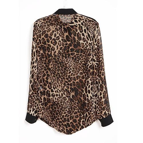 Блузка шифоновая с леопардовым принтом Lightinthebox 322.000