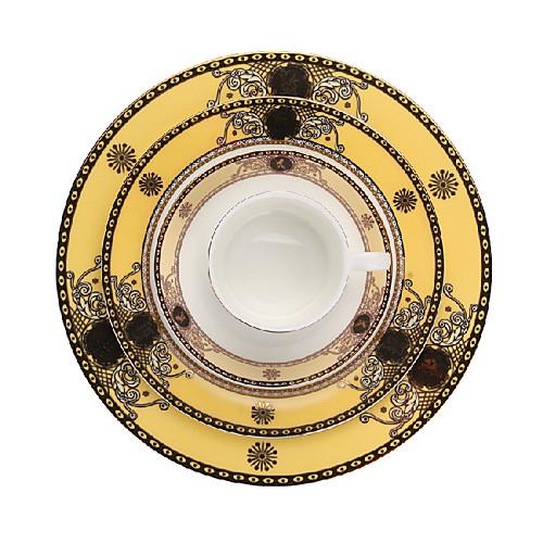 Набор из четырех: тарелки 25,5 см и 21 см/1 чашка/1 соусница Lightinthebox 1868.000