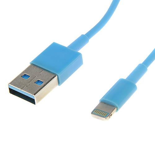 USB-кабель синхронизации Зарядное устройство USB кабель для iPhone5/5s (синий 1.02m) Lightinthebox 85.000