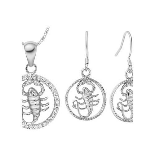 Оригинал посеребренными Цирконий зодиака Скорпион Женская комплект ювелирных изделий (ожерелья, серьги) (золото, серебро) Lightinthebox 437.000