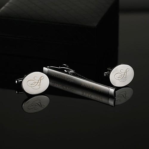 Персонализированные Мужская Подарок Зажим для галстука и запонки Овальный Наборы Lightinthebox 450.000