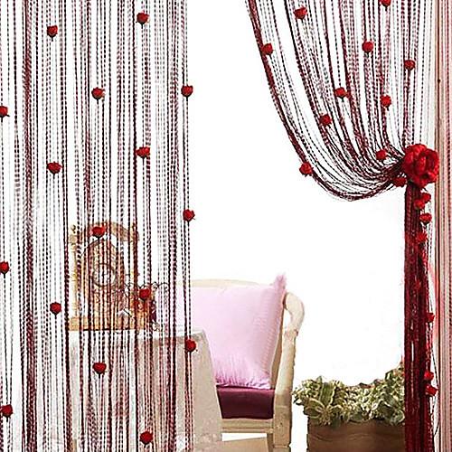 Романтический Роуз в корейском стиле занавеса Line - Случайный цвет (39